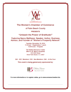 Women's Chamber november 18th event