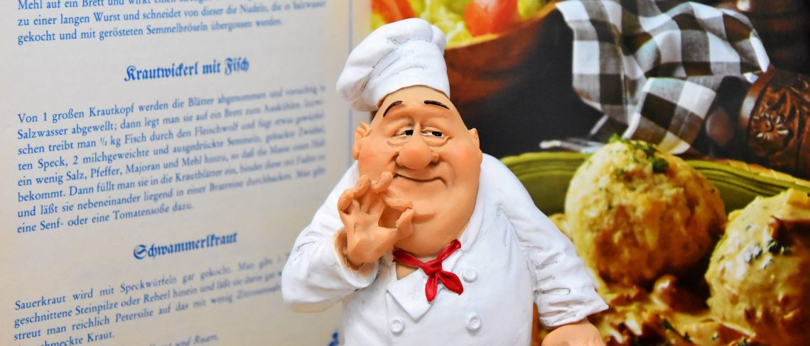 trust and estate attorneys in florida - Menu and caricature of a chef
