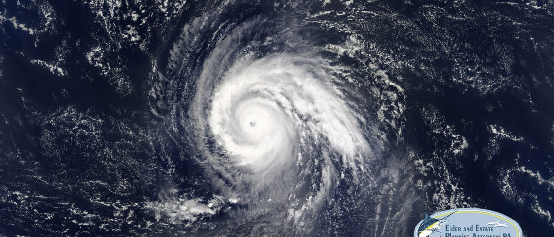 family law attorney west palm beach florida - Hurricane view from above